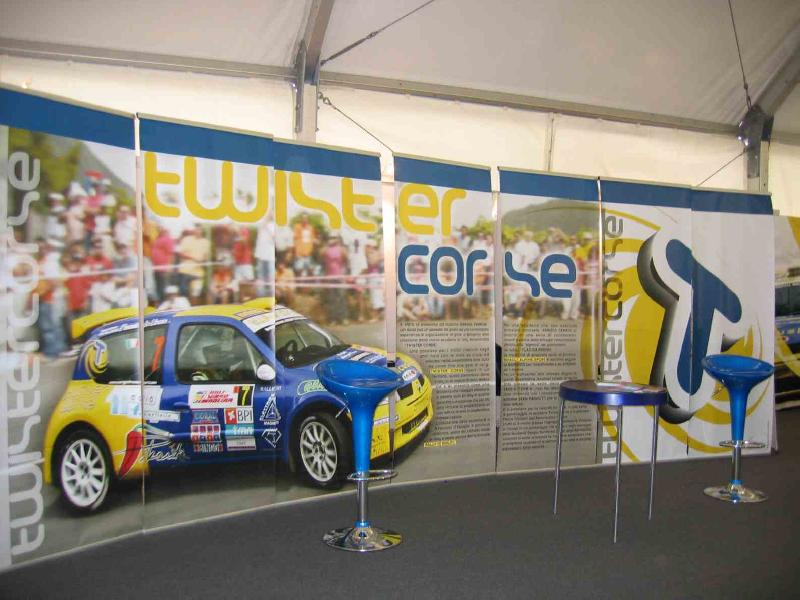 Lo stand hospitality Twister Corse